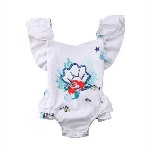 Fashion Newborn Kids Baby Girl Flower Romper Jumpsuit Sunsuit Outfits Clothes US