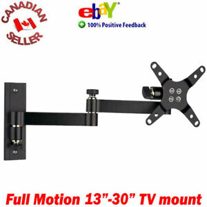 LCD-TV-Monitor-Wall-Mount-13-30-034-15-Tilt-180-Swivel-arm-17-19-20-22-23-24-27-034