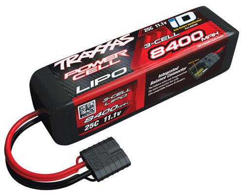 Traxxas 2878X 8400mAh 11.1V iD LiPo 3S 3-Cell 25C Battery Slash VXL 4x4 Spartan