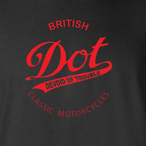 DOT-MOTORCYCLE-TRIBUTE-BRITISH-CLASSIC-VINTAGE-BIKER-RETRO-BLACK-GILDAN-HOODIE