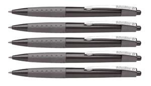 5 x Schneider Kugelschreiber Loox M 135501 schwarz metallic