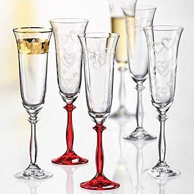 Bohemia Cristal Sektglas Life  6er Kristallglas 190 ml spülmaschinengeeignet