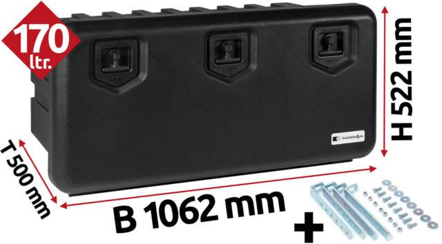 Horiz LKW Staukasten 858x522x500mm Halter Staubox Daken A130+HH420 134 Ltr