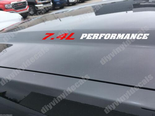 7.4L PERFORMANCE Hood decals 454 Chevy Big Block GMC 2500 HD 3500 96 97 98 99 00