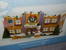 "Department 56 Village The Simpsons ""Springfield Elementary School"" 4032215 NIB!"