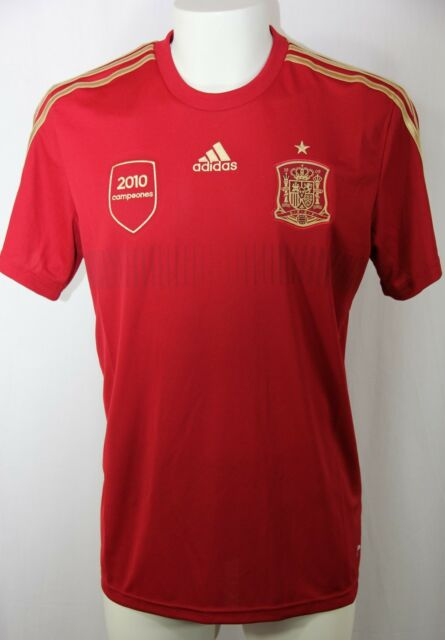 new products d5497 418c1 adidas Spain Espana FEF Soccer Football Climalite Replica Home Tee Men L  G85232 for sale online   eBay