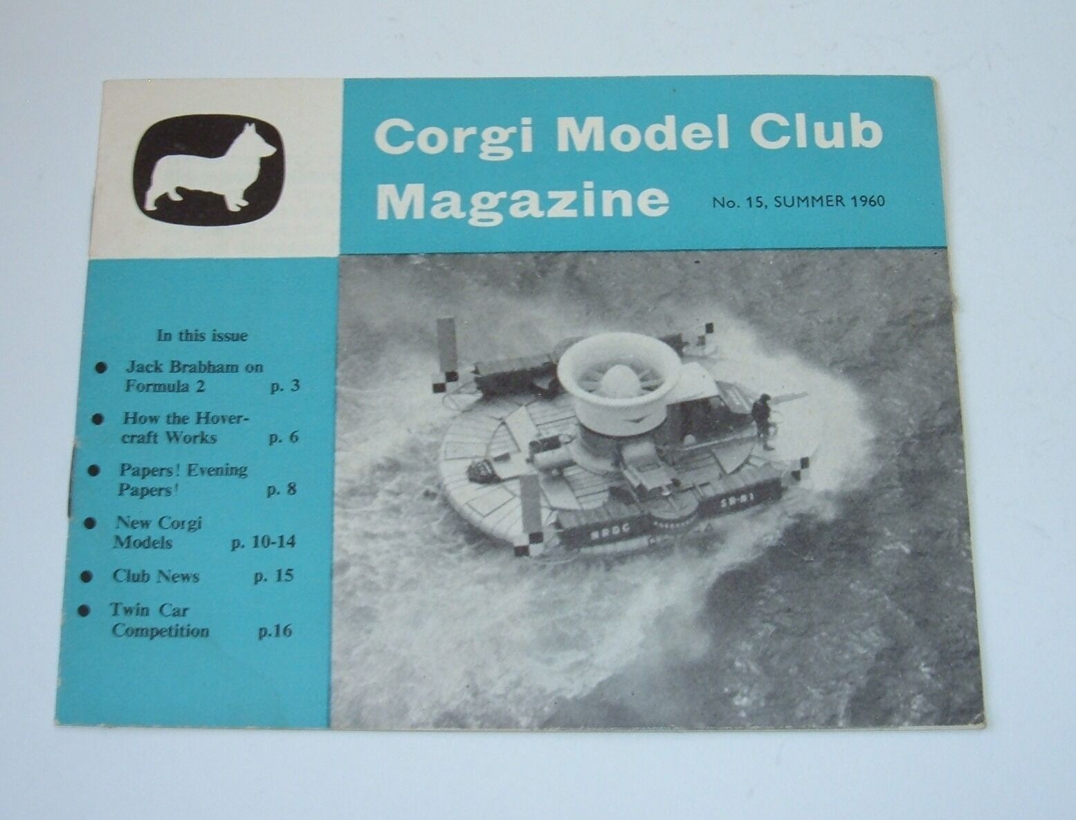 Original Corgi Club Magazine No. 15, Summer 1960, - Superb.