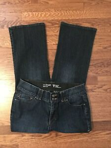 Lane-Bryant-Womens-Bootcut-Stretch-Tighter-Tummy-Denim-Jeans-Dark-Wash-Sz-14P