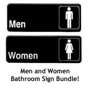 Men And Women Restroom Sign Men And Women Bathroom Sign 9 Inches X 3 Inches Ebay