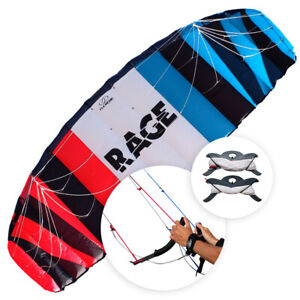 NIEUWE Flexifoil 3,5m² Rage 2021 Sport Power Kite met lijnen en handvatten