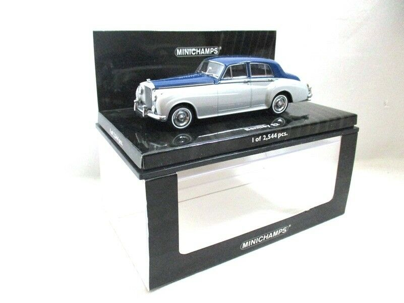 Bentley S2 Salón Plata Azul 1960 Minichamps