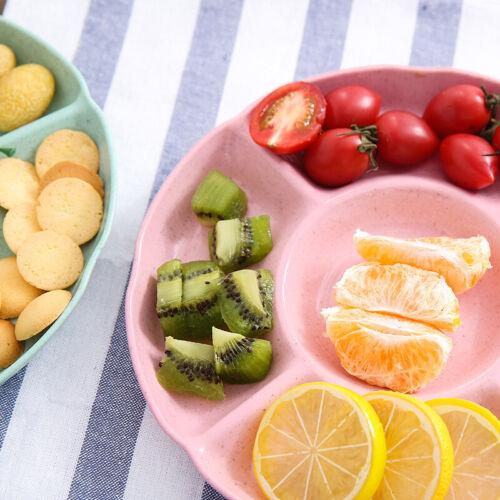 2pcs Petal Shaped  Candy Box Dish Snacks Tray Five Grid Dried Fruit Plate