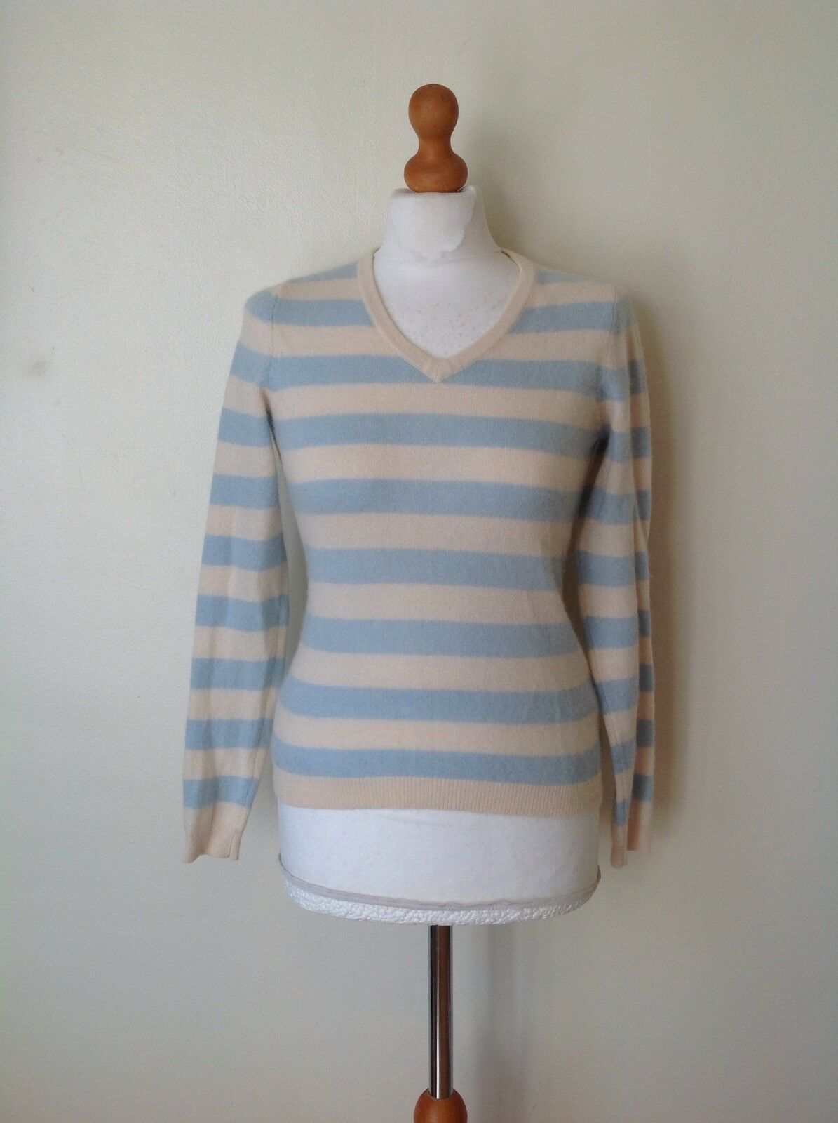 CLEMENTS RIBEIRO LADIES 100% CASHMERE JUMPER SIZE XS