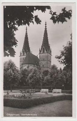 (73318) Foto Ak Göppingen, Oberhofenkirche, 1942