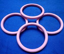 (M06) 4x Zentrierringe 72,2 / 60,1 mm rosa für Alufelgen