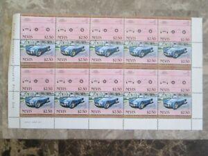 AC Cobra Blue,sheet of 10 stamps unused Nevis