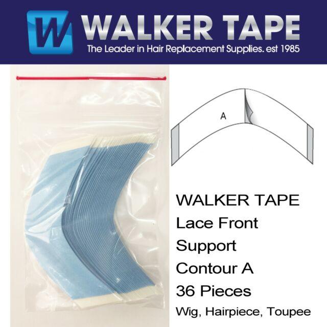 Walker Lace Front Support Hair Tape 36 Pcs Bag A Contour Wig Hair Piece Toupee