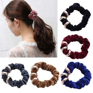 2 x Spiral 5.5cm Slinky Hair Head Bands Elastic Bobble Tie Scrunchie Accessories