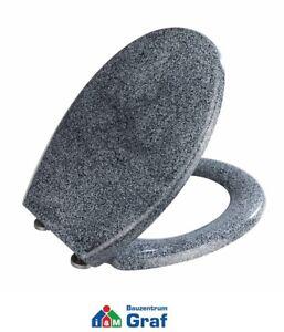 WENKO Premium WC-Sitz OTTANA GRANIT mit Absenkautomatik, aus Duroplast /#825055
