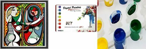 DoMyArt DIY Oil Painting Paint by Number Kits Girl Before a Mirror...