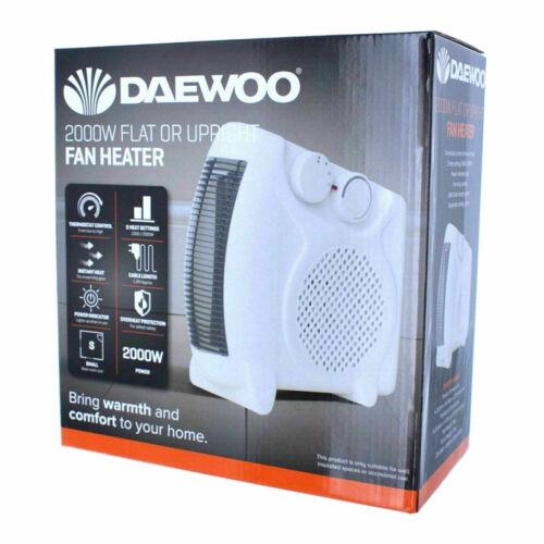 Daewoo 2000 W plat ou Verticale Ventilateur Chauffage Thermostat contrôle avec 2 réglages de chaleur