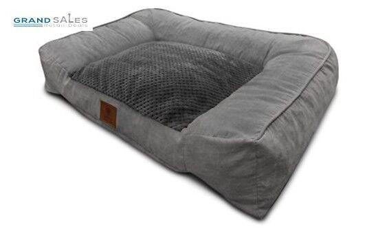 Large Dog Bed Memory Foam Cat Sofa Plush Soft Medium Pet Pillow Removable Cover