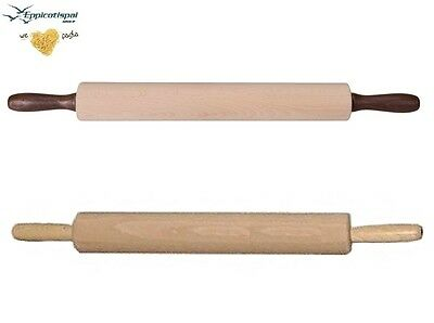 BEECHWOOD WOODEN WOOD ROLLING PIN REVOLVING 42cm CAKE BAKING PASTRY DOUGH 9104
