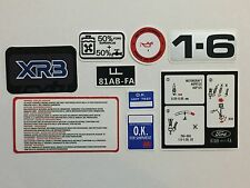 Ford Escort MK3 XR3 Engine Bay Decals - best and cheapest