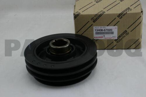 1340867020 Genuine Toyota PULLEY CRANKSHAFT 13408-67020