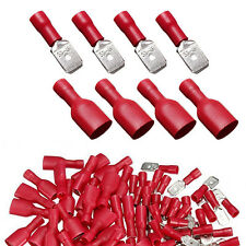 100PC/50Pair Female&Male Spade Crimp Terminal Ends Electrical Wire Connector