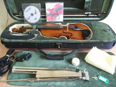 Great Deal On 3/4 Size Allieri Violin With Lots Of Extras Ideal Gift For Leaner Aromatic Flavor Musical Instruments & Gear