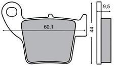 225100660 RMS pastiglie freno POSTERIORE HONDACRF 450 X 2009 2010 2011 2012