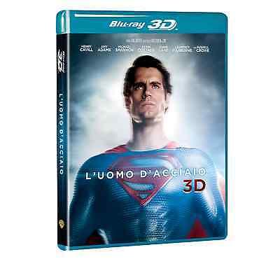 L'UOMO D'ACCIAIO - SUPERMAN (BLU-RAY 3D + BLU-RAY) NUOVO, ITALIANO, ORIGINALE