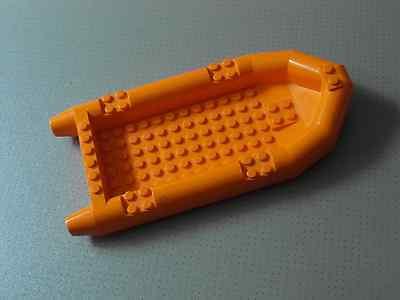 LEGO Orange Rubber Raft Minifigure Boat