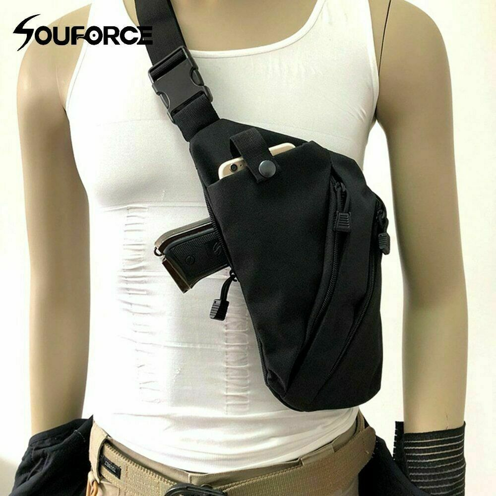 Anti-theft Invisible Chest Sling Crossbody Bag Gun Holster Shoulder Pouch Pack