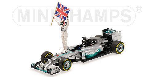 MINICHAMPS 410 140644 Mercedes AMG F1 W05 voiture de course gagner Abu dhadi L HAMILTON 1:43