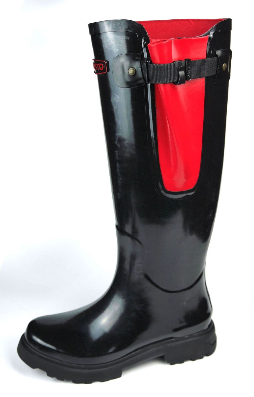 Musto Blenheim Black Gusset Ladies Wellington Welly Boots