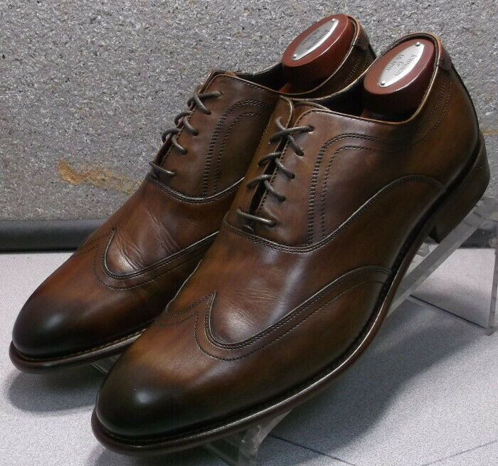 241942 PFi60 Men Shoes Size 11 M Brown Leather Made in Italy Johnston Murphy