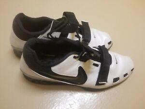 Nike-Romaleos-2-Powerlifting-Weightlifting-Shoe-Mens-Size-US-18-Black-White