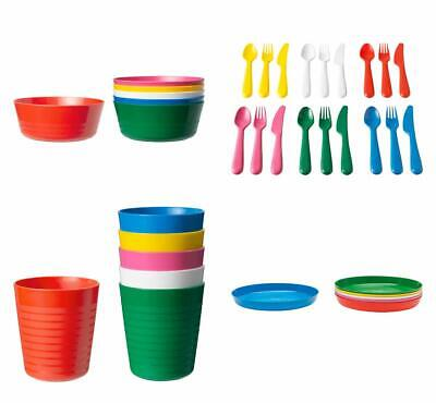 Plates IKEA Childrens Plastic Sets Cutlery Cups Bowls Kids //Baby Party