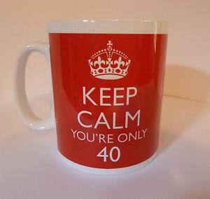 Gift Mug Cup 40th Birthday Present