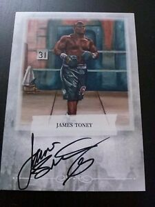 James Toney 2011 Sport Kings Ringside Boxing Auto Silver Version