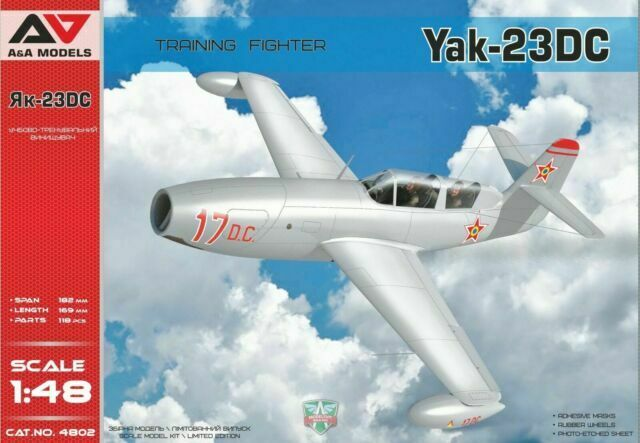 ModelSvit 4802-1//48 Soviet Fighter Yakovlev Yak-1 on skis WWII model kit