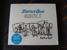Slip Double: Status Quo : Aquostic II : That's A Fact : Deluxe Edition Sealed