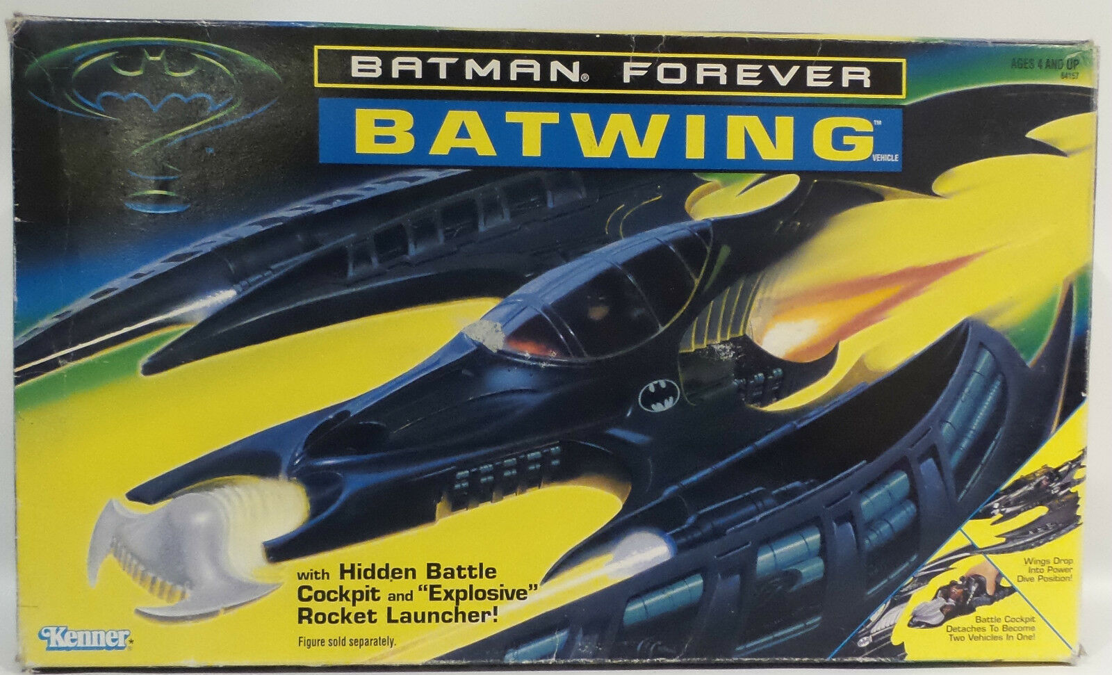BATMAN FOREVER   BATWING PLASTIC MODEL MADE BY KENNER IN 1995. (TK)