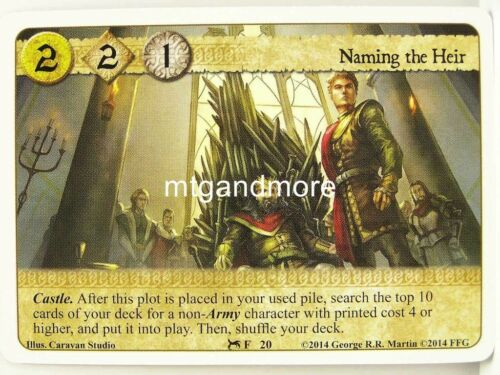 1x Naming the devoir #020 A Game of thrones lunaires secrets and schemes