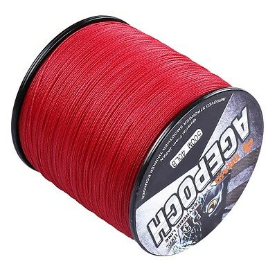 New!100M 300M 500M 1000M Red 100% PE Dyneema Agepoch Braided Fishing Line
