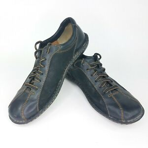 born women's 95 black oxford lace up casual leather shoes