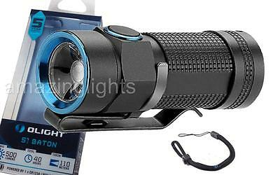 Olight S1 Baton Compact EDC LED Flashlight - Use 1x CR123A 500 Lumen