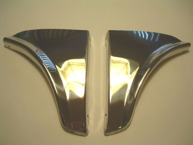 1965 1966 CHEVY IMPALA BELAIR METAL FENDER SKIRTS NEW WITH HARDWARE